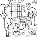 Jésus change l'eau en vin